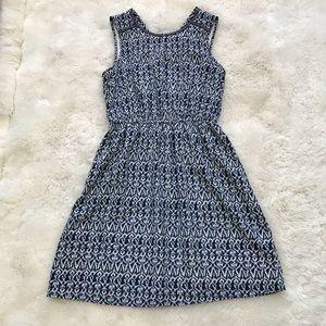Skies are Blue Ikat Print Dress